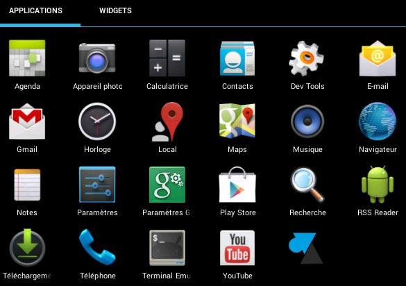 android market pour tablette