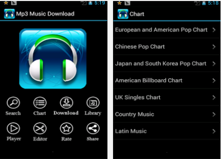 Part 2. Top 10 Applications pour Télécharger Musique sur Android