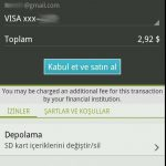 Android market kredi kartı tanımlama
