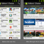 Android market list of apps