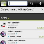 Android market keyboard