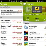 L'android market application