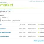 Android market billing