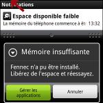 Tablette android installer appli sur carte sd