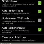 Android market new version update