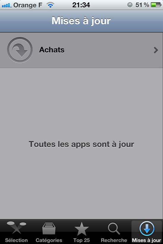 Retrouver une application supprimée sur iphone