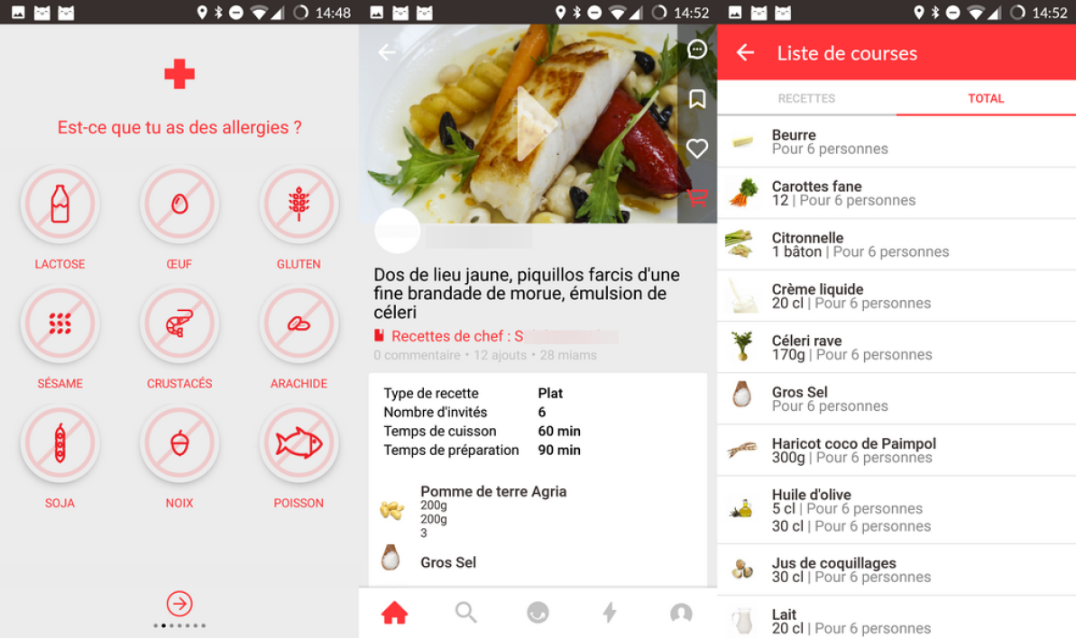 Application iphone equilibre alimentaire
