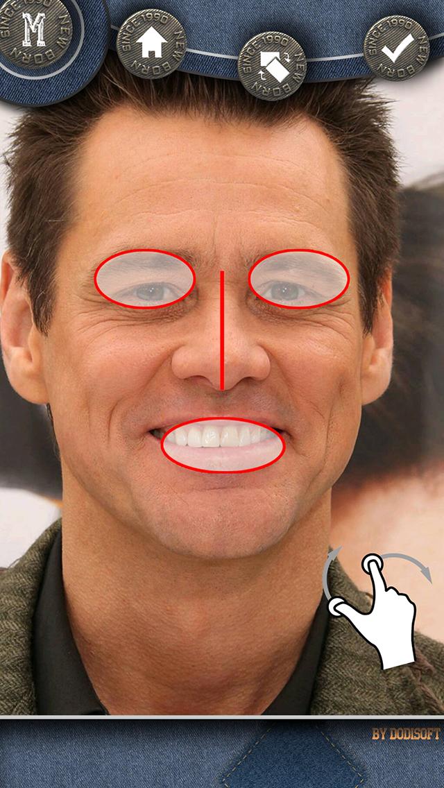 Application iphone deformer visage