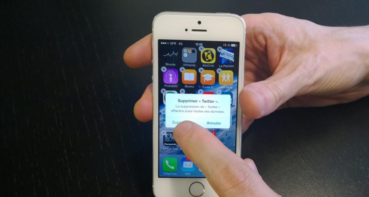 Désinstaller application iphone 7