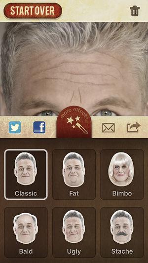 Application vieillissement iphone