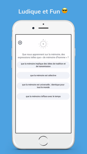 Application iphone memoire