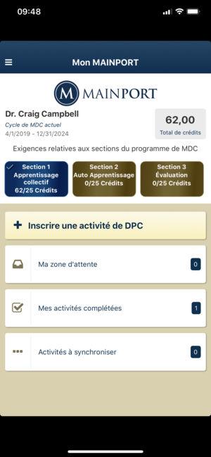 Synchronisation iphone application en attente