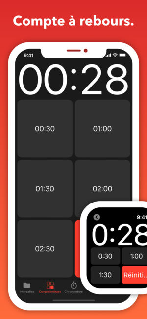 Application iphone minuteur sport