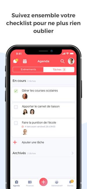 Application iphone agenda scolaire