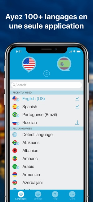 Application traducteur anglais iphone