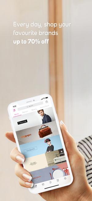 Application ventes privées iphone