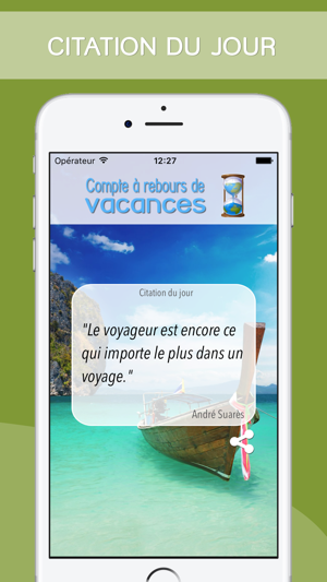 Application décompte jours iphone
