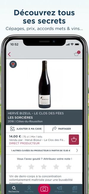 Application iphone pour le vin