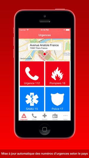 Application iphone en cas d'urgence