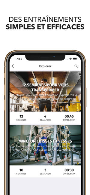 Application iphone carnet de musculation