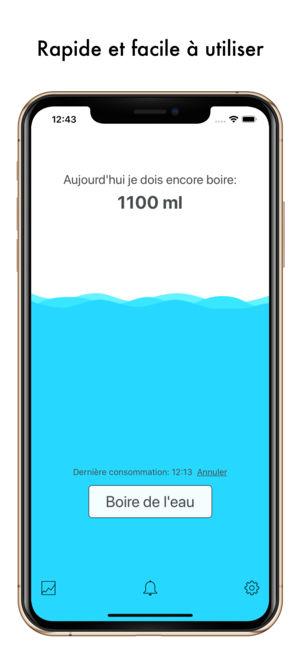 Application boire de l'eau iphone