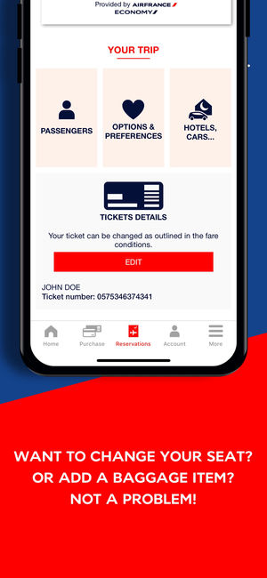 Air france application iphone