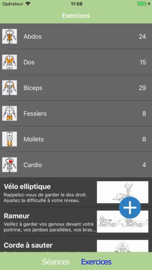Application pour la musculation iphone