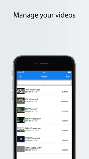 Application mp4 iphone