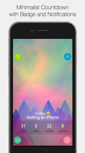 Application compte à rebours iphone