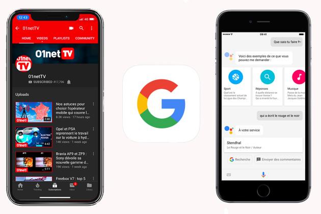 Application google sur iphone