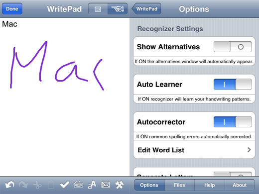 Application traitement de texte iphone