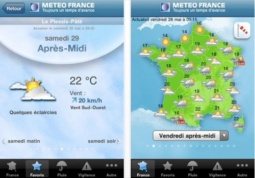 Application meteo france iphone
