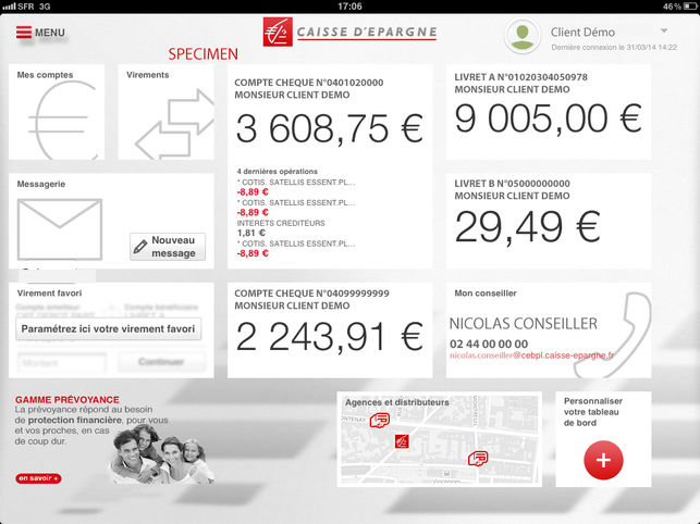 Application caisse iphone