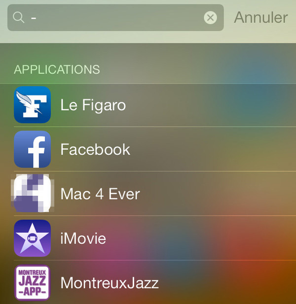 Application iphone installée mais invisible