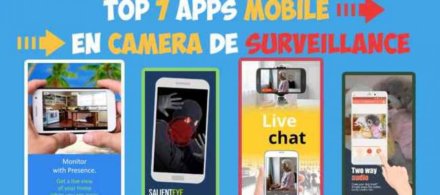 Camera surveillance avec application iphone