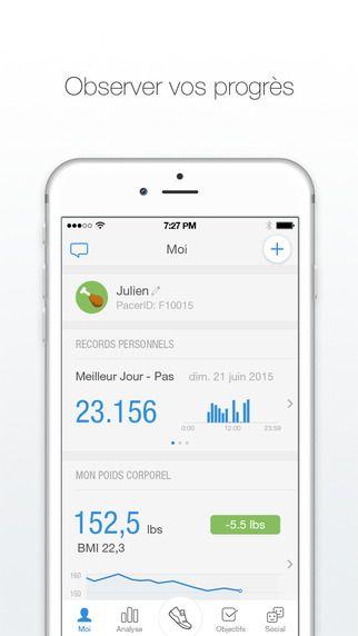 Application iphone suivi poids