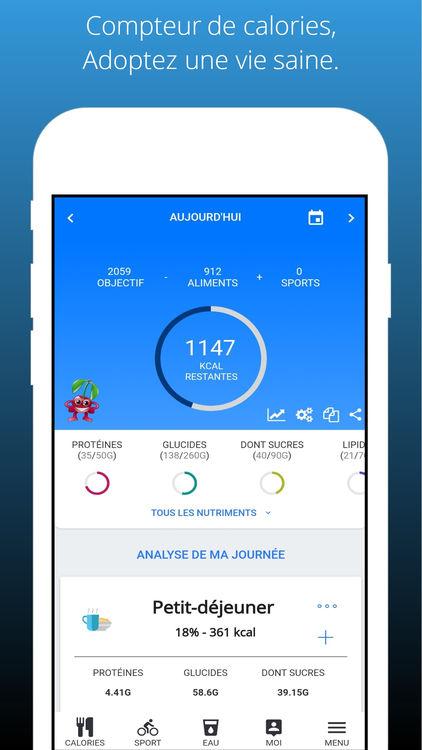 Application compteur de calories iphone