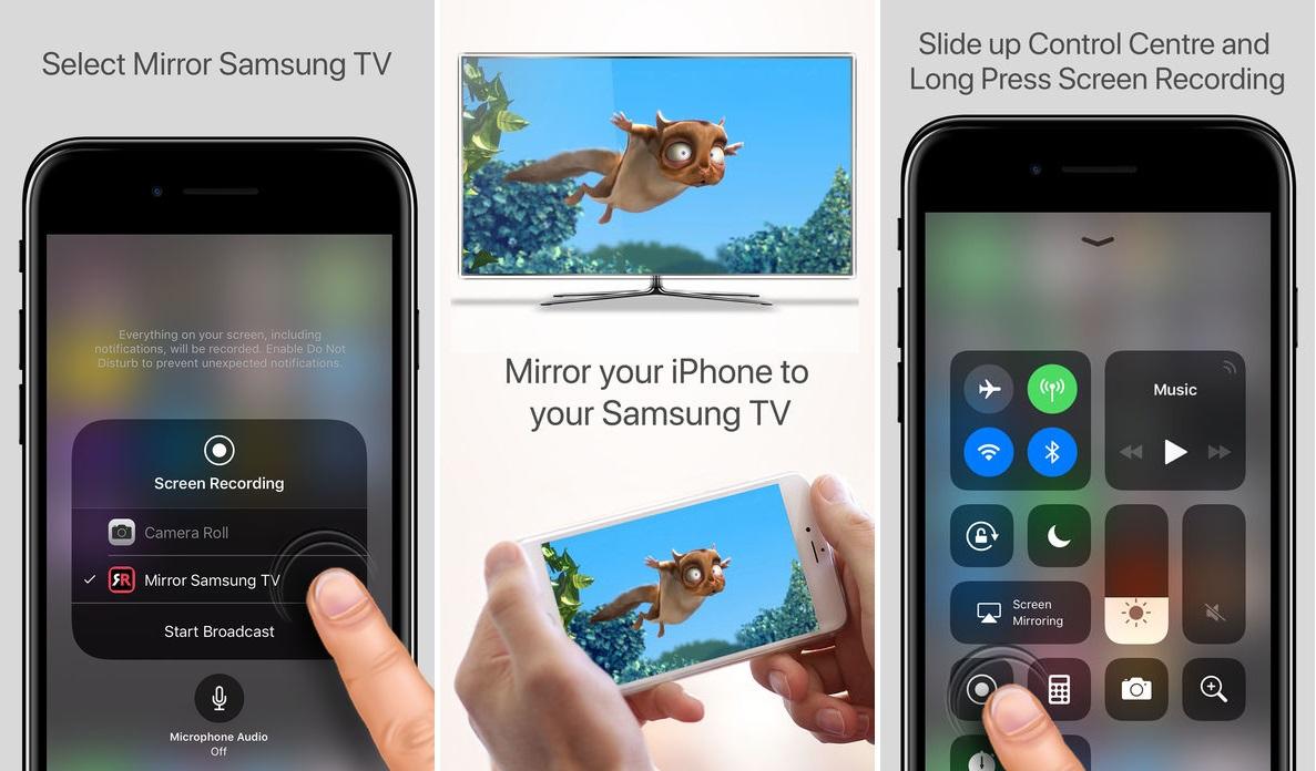 Application miroir iphone