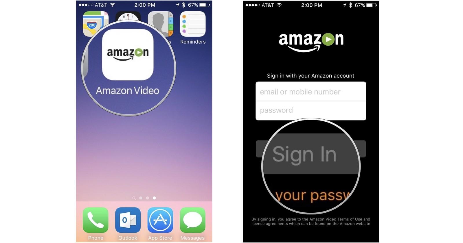 Application iphone vidéo
