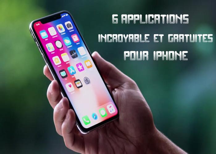 Application gratuite sur iphone 5