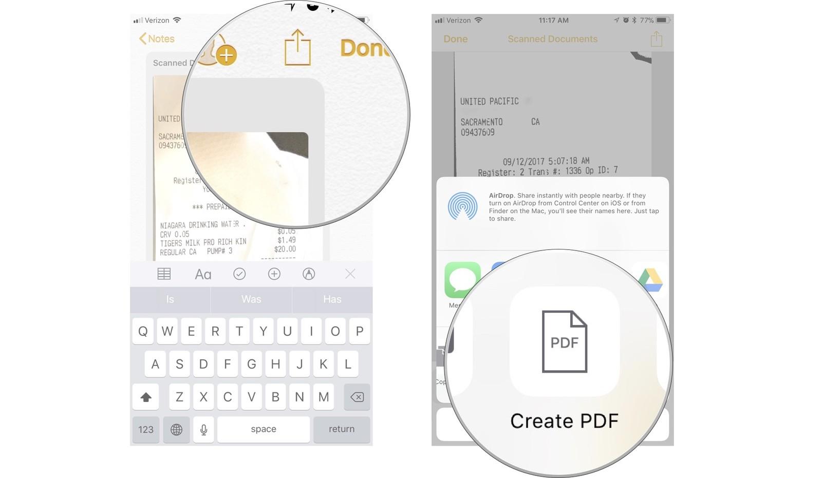 Application scan sur iphone