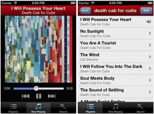 Application iphone musique gratuite