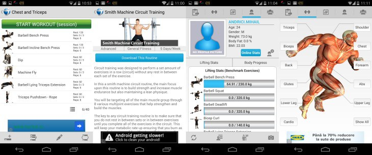 Application musculation iphone francais