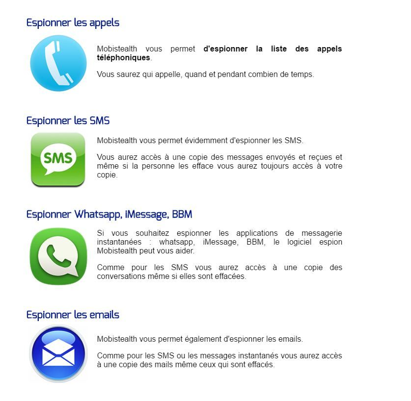 Application iphone espion sms