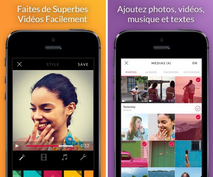 Application iphone montage photo musique