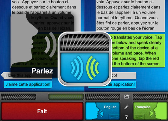 Application iphone traducteur vocal