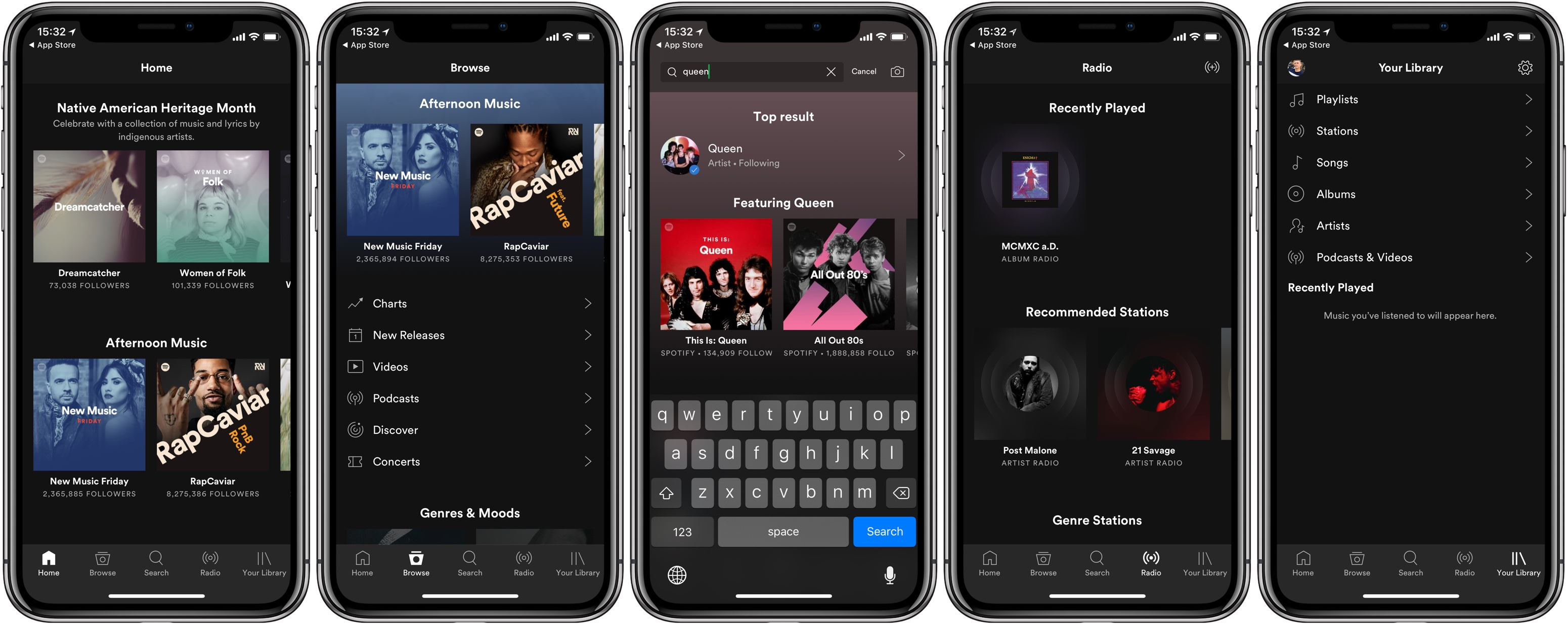 Application spotify iphone