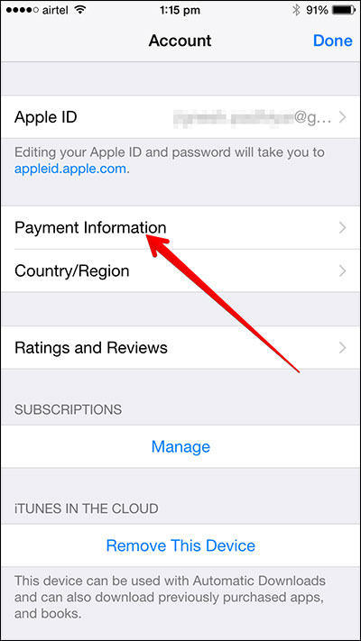 Application iphone information