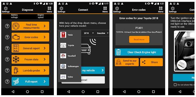 Application obdclick pour iphone