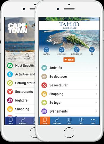 Application guide touristique iphone
